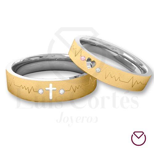 Argollas para matrimonio oro plata 13