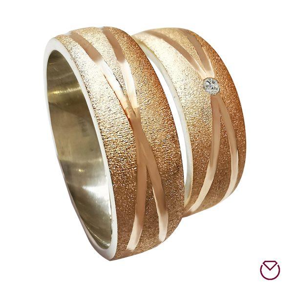 Argollas De Oro Rosa Plata Especiales / REF. 067AOP